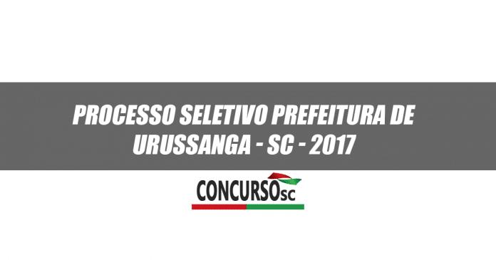 Processo Seletivo Prefeitura de Urussanga - SC 2017