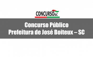 Concurso Público Prefeitura de José Boiteux – SC