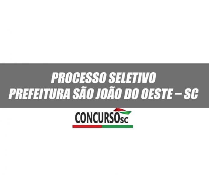 Processo Seletivo Prefeitura São João do Oeste – SC