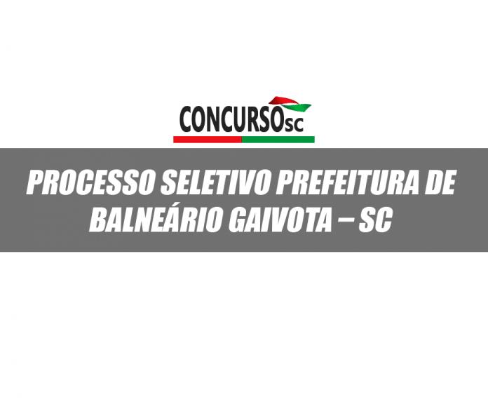 Processo seletivo Balneário Gaivota