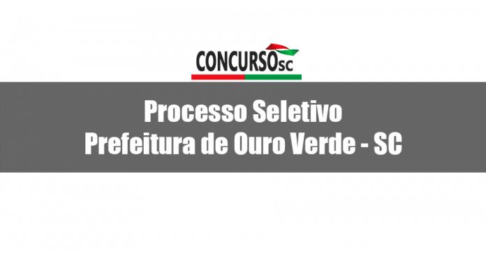 Prefeitura de Ouro Verde - SC abre Processo Seletivo para Agente Comunitário de Saúde