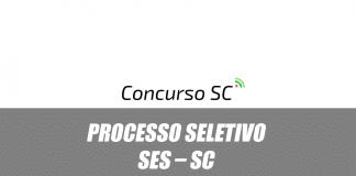 Processo seletivo SES – SC
