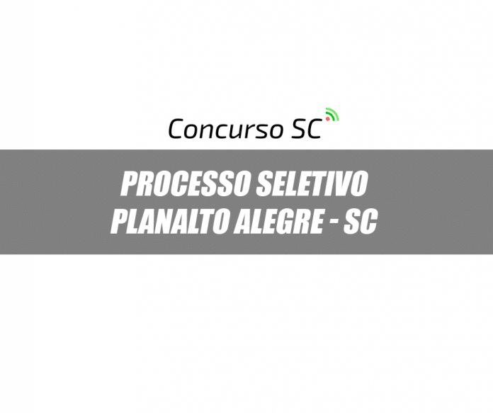 Planalto Alegre processo seletivo